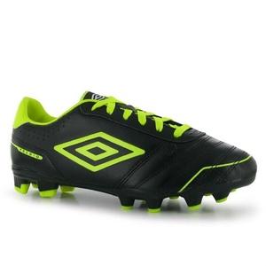 Mens Umbro Premio FG Football Boots Shoes Black Yell White (UK 12 / US 13)