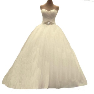 Angel Formal Dresses Women's A Line Sweetheart Tulle Bridal Wedding Dresses (10, Ivory)