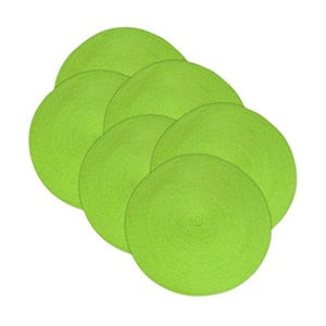 Design Imports Lime Round Braided Placemat (Set of 6)