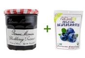 Bonne Maman Preserves Blackberry -- 13 oz, ( 5 PACK ), Nature's All Foods Organic Freeze-Dried Raw Blueberries -- 1.2 oz