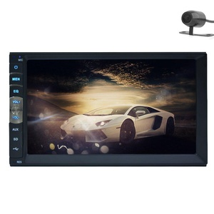 EinCar Linux System Double Din In Dash Car Stereo GPS Navigation 7 Inch touch screen Car MP3 MP5 Player Support Bluetooth 1080p Video USB SD TF Steering Wheel Control with Rear View Camera