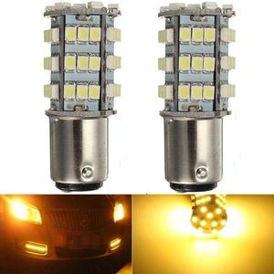 KATUR 2 x Amber 1157 S25 BAY15D 1210 54-SMD LED Car Lights Bulb Backup Signal Blinker Tail Light Bulbs 12V Replacement 1016 1034 2057 7528 1157A 1178A LED Light