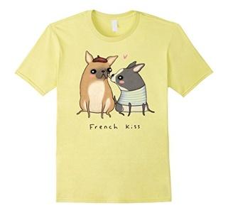 Men's I Kissed A Dog And I Liked It T Shirt 3XL Lemon