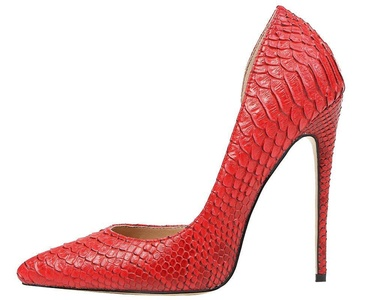 Maovii Women's SEXY High Heels Pointed Toe Snakeskin Pumps Shoes for Party Dress 6 M US Red
