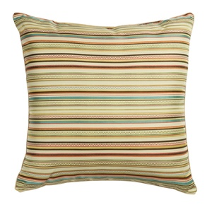 Grand Spice Striped Square Throw Pillow