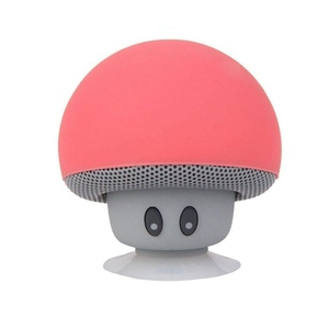 IPUIS Mini Bluetooth Speaker Mushroom Wireless Portable Stereo Speaker Music Player with Suction Cup Built-in Mic Hands-free (Red)