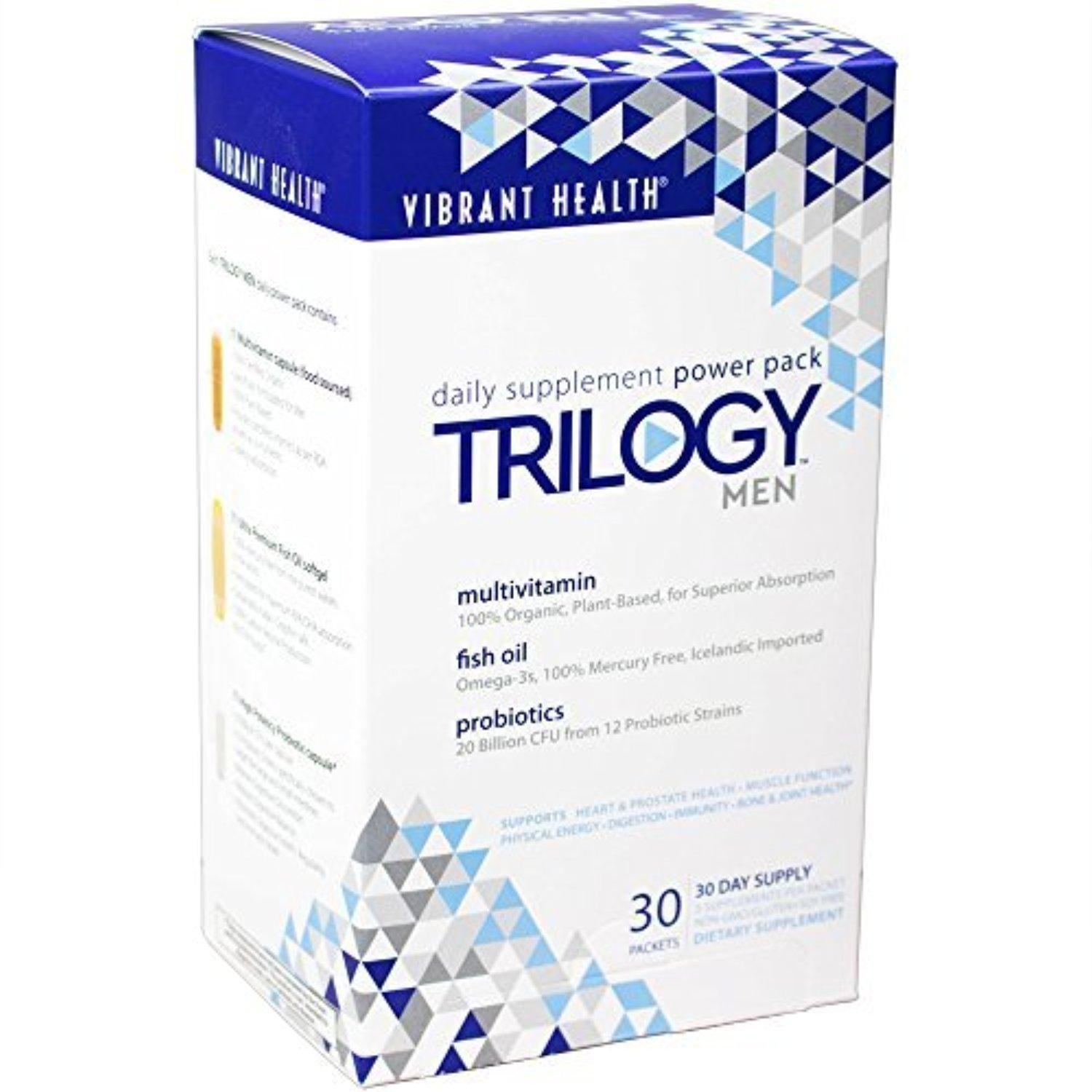 Trilogy Men - Daily Supplement Power Pack, 30 day supply by Vibrant Health