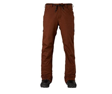 Analog Men's Remer Ski Snowboard Pants Oxblood Twill Size Medium
