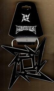 METALLICA - BELT BUCKLE - Black Ninja Star Logo-LICENSED NEW