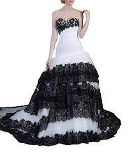 Aurora Bridal 2016 Sweetheart Lace Ruffles Long Train Wedding Dress White 20W