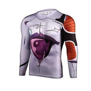 Cartoon Dragon Ball Frieza Perspire Quick-dry 3D Shirt Cosplay Marvel Costume (Asian-XL)
