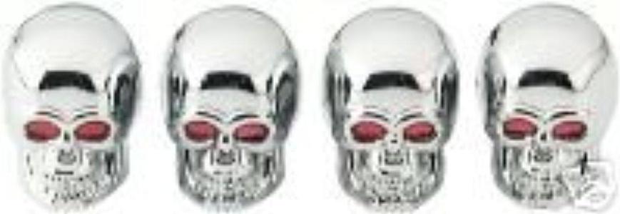 Skull Skulls Tire Valve Stem Caps 4-pc Set by Bell