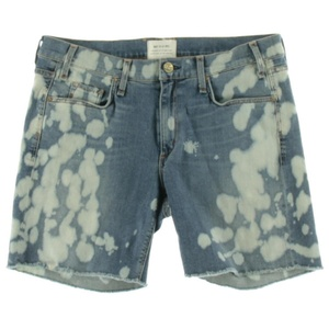 McGuire Denim Womens Mrs Robinson Denim Acid Wash Cutoff Shorts
