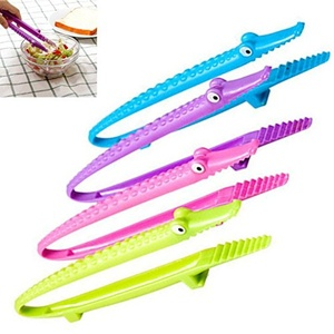 4 Pc Hot Selling Silicone Cooking Kitchen Tongs Food Bbq Salad Steak Bread Clip Clamp