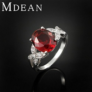 Slyq Jewelry Ruby Ring Platinum plated Wedding Ring jewelry engagement vintage bague bijouterie