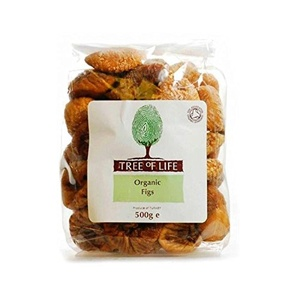 Tree of Life Organic Figs 500g - Pack of 2