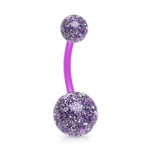 Ultra Glitter Acrylic WildKlass Balls BioFlex WildKlass Navel Ring (Sold by Piece)