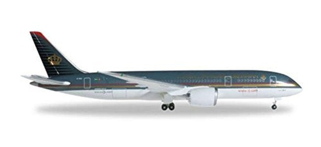 HE527644 Herpa Wings Royal Jordanian 787-8 1:500 Model Airplane by Herpa 1/200 Scale Military