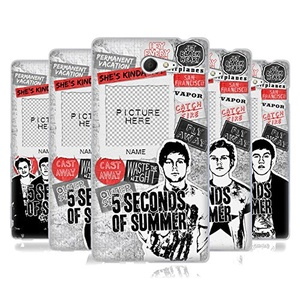 Custom Customized Personalized 5 Seconds Of Summer Song Titles Soft Gel Case for Sony Xperia M2