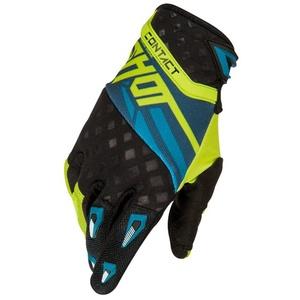 Shot Raceway Men's Off-Road Motorcycle Gloves - Yellow/Blue Size 13