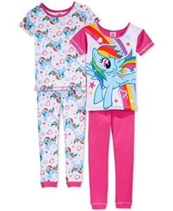 MY LITTLE PONY Girl's Size 8 Four-Piece RAINBOW DASH Pajama Set