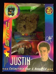Justin Collectible Bear and Bonus CD by Encore