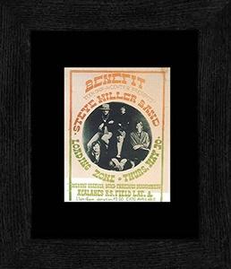 Steve Miller Band Loading Zone - Teen Drop-in Center Benefit Acalanes High School. Lafayette 1968 Framed Mini Poster - 20x18cm
