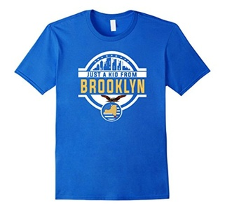 Men's just a kid from brooklyn shirt Large Royal Blue