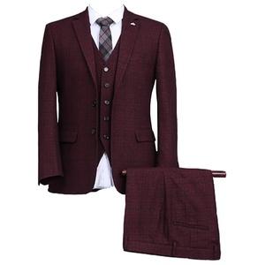 GEORGE BRIDE Plaid Men Bussiness Suits Three Piece Suit,3XL