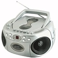 Sylvania Portable Cd Player AM/FM Radio Tuner Mega Bass Reflex Stereo Sound System Plus Cube Cable 6ft Aux Cable to Connect Any Ipod, Iphone or Mp3 Digital Audio Player