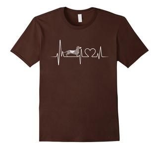 Men's Dachshund Shirt - Dachshund Heartbeat T shirt 3XL Brown
