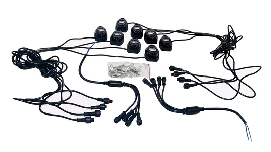 Rock Light Kit OZ-USA 8x LED with wiring for crawling under body frame fender 4x4 offroad White