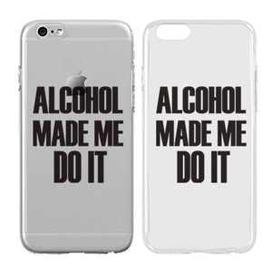 Case for iPhone 5C - Cream Cookies - Ultra Slim Hard Plastic Cover Case - Alcohol Made Me Do It - Alcoholics - Alcohols - Quotes - Fun Quotes - Sassy - Sassy Quotes - Drunk - Wine
