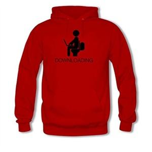 DOWNLOADING For women Printed Sweatshirt Pullover Hoody