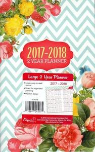 Flowers / Floral 2017 - 2018 2 Year Monthly Planner - Calendar - Agenda - Appointment Book Organizer + Bonus 2017 Magnetic Calendar (Bundle - 2 Items)