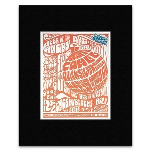 Quicksilver Messenger Service Country Joe and the Fish - Week of the Angry Arts Vietnam Mobilization San Francisco 1966 Matted Mini Poster - 30.3x25.4cm