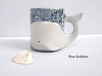 Handmade Whale Mug Ceramic Coffee Mugs