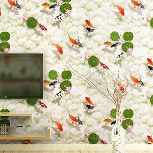 CCWY Upscale modern Chinese wallpaper adhering the stereo TV background wallpaper living room 3D non-woven cloth wallpaper videos wall