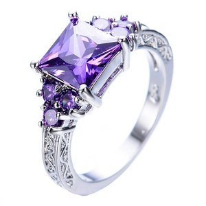 T&T ring Princess Amethyst Purple Zircon Rings Wedding Party Rings For Women Engagement Bridal Rings (9)