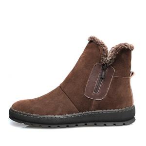 Winter snow boots/Barrel man in boots/ Korean short boots/Hi mens shoes-C Foot length=24.3CM(9.6Inch)