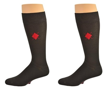 Sierra Men Dress Casual Bamboo Argyle 2 pair Pack Crew Socks SMAPC2 1080 (Men Shoe Size 10.5-14, Men Sock Size 10-13, Brown)