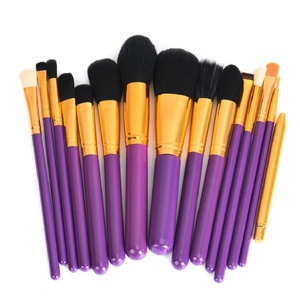 Leewa Rayon Makeup Brushes Set Powder Foundation Eyeshadow Eyeliner Lip Brush Tool (Purple)