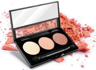CINEEN Three-color Durable Matt nude Make-Up Earth Tone Eye Shadow 12g Professional Makeup Colorful High-luster Products-Pink