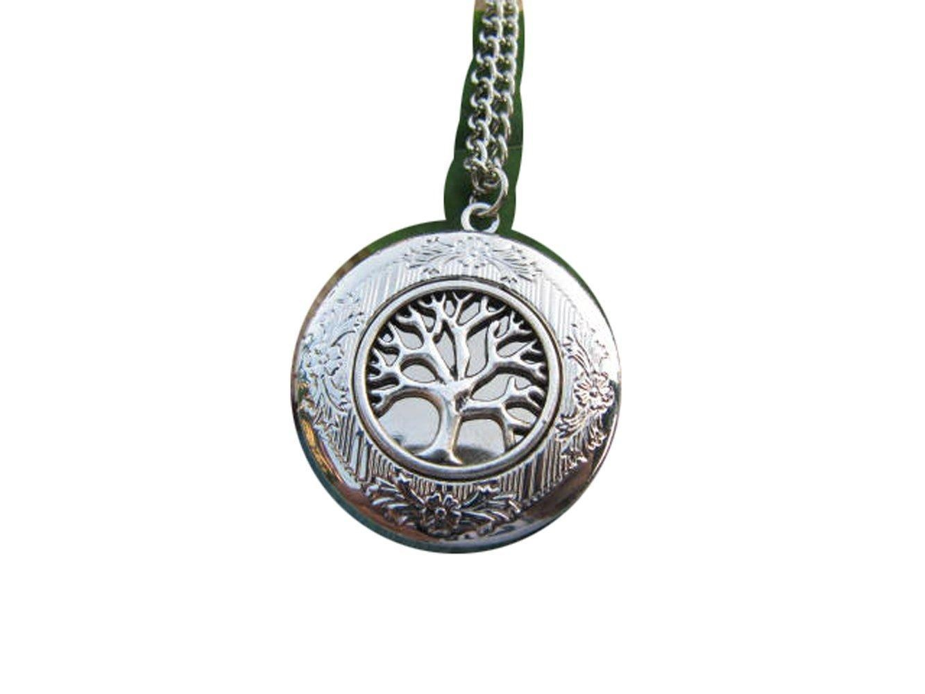 Tree of Life Necklace Silver Tree Locket Round Locket Necklace Round Tree Jewelry Family Locket