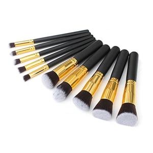 Fashion Base Professional 10PCS Black and Gold Makeup Brushes Set Eyeshadow Brush by Mofun
