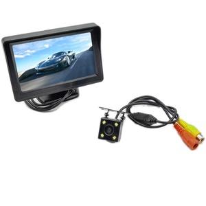 PolarLander Car Reversing Mirror Monitor LED 4.3 Inch +Rear View Camera CCD Night Vision Auto Parking System Backup Car Monitors