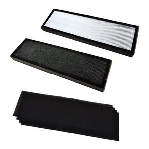 HQRP Kit: Two True HEPA Filter B & 4 pcs Carbon Filters for GermGuardian AC4800, AC4900CA, AC4825, AC4825e, AC4850PT Air Purifiers, FLT4825 / FLT4850PT / FLT22CB4 Replacement + HQRP Coaster