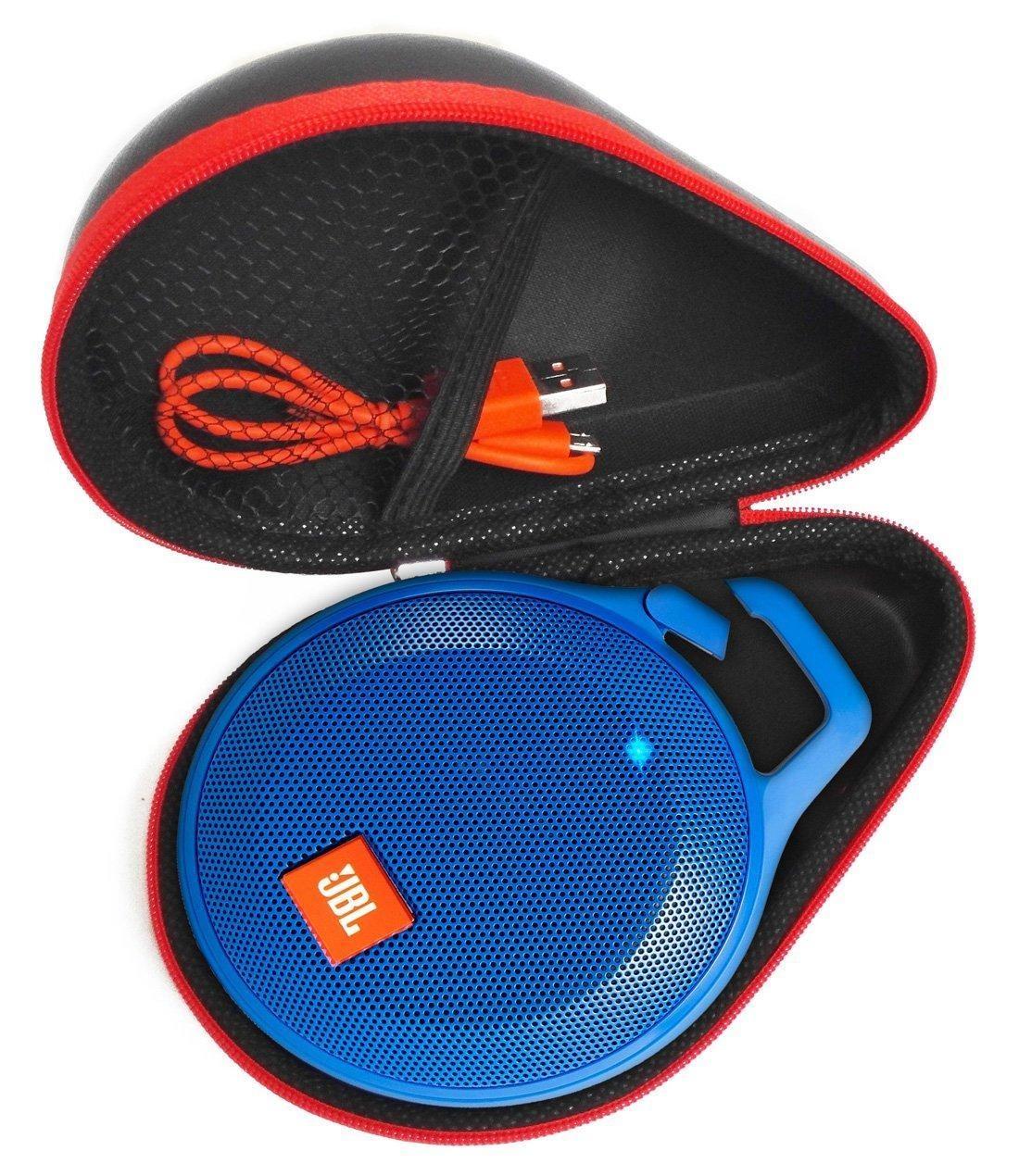 FitSand (TM) Portable Zipper Travel Carry Protective EVA Hard Case Cover Bag Box for JBL Clip+ Splashproof Portable Bluetooth Speaker