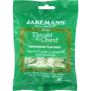 2Pack! Jakemans Lozenge - Throat and Chest - Peppermint - 30 Count