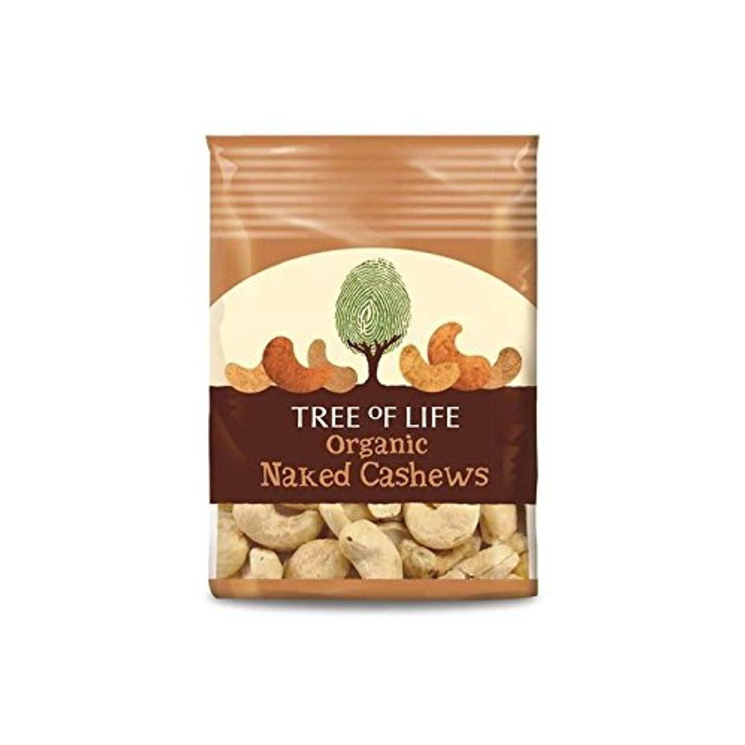 Tree of Life Organic Naked Cashews 40g - Pack of 2